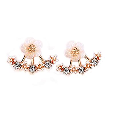 08d3187769c3f Amazon.com: 2016 Fashion 925 Sterling Sliver Daisy Flower Ear Jacket ...