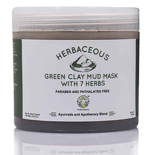 Greenberry Organic's Herbaceous Green Clay Mud Mask with 7 Herbs00 GMS