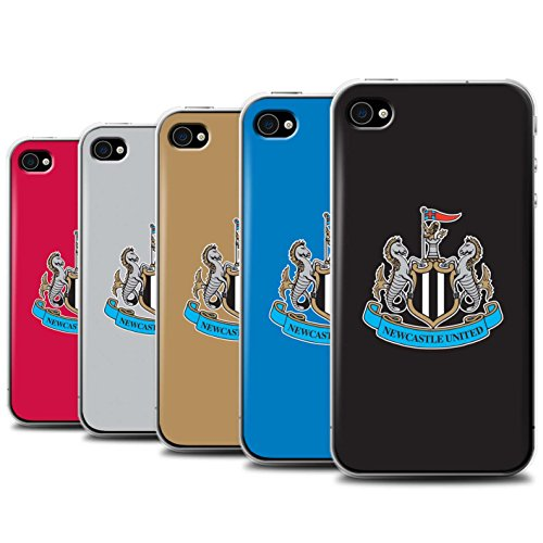 Offiziell Newcastle United FC Hülle / Case für Apple iPhone 4/4S / Pack 12pcs Muster / NUFC Fußball Crest Kollektion