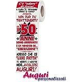 Carta igienica compleanno 50 anni