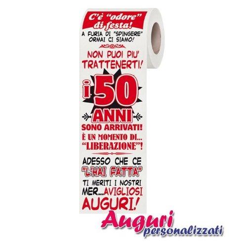 Carta Igienica 50 Anni Amazon It Giochi E Giocattoli