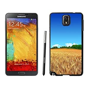NEW Unique Custom Designed For Case Samsung Galaxy S5 Cover Phone Case With Wheat Field Clear Blue Sky_Black Phone Case