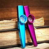 6 Metal Kazoo Musical Instruments with 36 Pieces