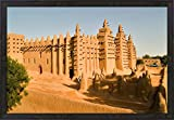 Mosque, Mali, West Africa by Janis Miglavs / Danita Delimont Framed Art Print Wall Picture, Espresso Brown Frame, 32 x 22 inches