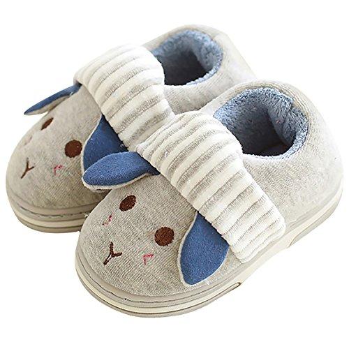 Cute Bunny Slipper Boots Fluffy Velvet Terry Foam Animal Slippers Non Slip House Shoes Toddler/Little Kid