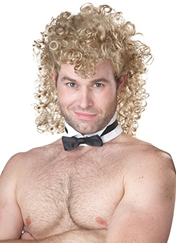 California Costumes Men's Girl's Night Out Wig, Blonde, One Size (Curly Blonde Costume Wig)