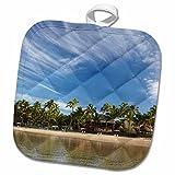 3dRose Danita Delimont - Beaches - Beach, Outrigger, Lagoon Resort, Viti Levu, Fiji - OC01 DWA0283 - David Wall - 8x8 Potholder (phl_140652_1) offers