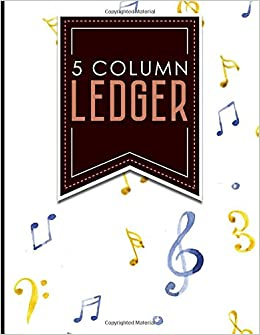 amazon com 5 column ledger appointment book accounting ledger for