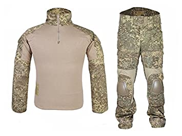 atairsoft táctico militar Emerson Gen2 G2 hombres caza combate BDU uniforme (camisa y pantalones con protección codo rodilla almohadillas) Badland, S, ...