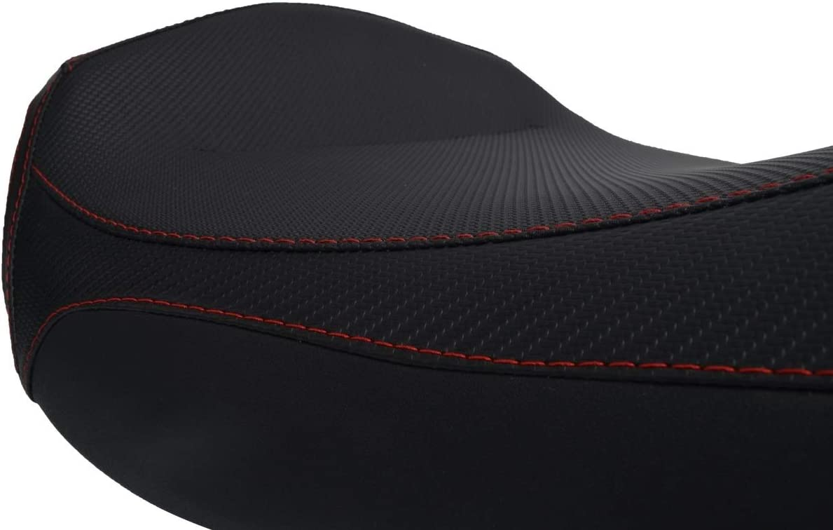 Sitzbankbezugnerung Aprilia Shiver 750 10 Schwarz-Rote N/ähte