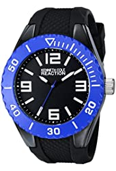 Kenneth Cole REACTION Unisex RK1340 Street Collection Analog Display Japanese Quartz Black Watch