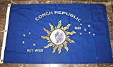 Key West Conch Republic Cotton Embroidered Flag 3×5 Banner For Sale