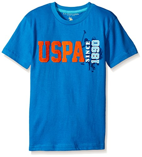 U.S. Polo Assn. Little Boys Cotton Jersey Graphic Crew T-shirt,