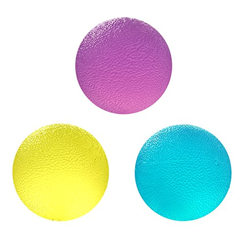 URlighting Hand Therapy Balls(3 Pcs) - Stress Relief Squeeze Balls - Hand Grip Strengthening Exercise Balls For Hand Training, Physical Rehabilitation Relief by URlighting