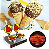 WICHEMI Commercial Electric Ice Cream Cone Waffle