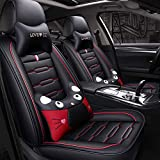 Cushion Portable Car Seat Cushion, Summer Breathable PU Leather Car Seat Detachable Seat Cover (2 PCS Front Seat + Rear Seat + Headrest + Lumbar Support) Cushion (Color : G)