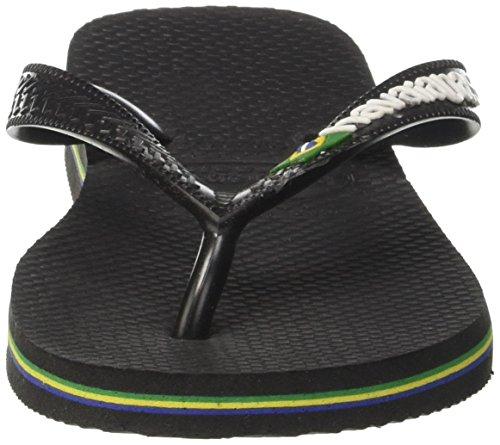 Havaianas Kids Hav Brasil Logo Sandals Black/Black mHie2oC