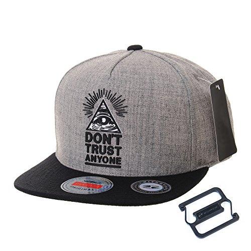 Cap WITHMOONS Snapback de Hip Sombrero Trucker Gris AL2390 Baseball béisbol de Patch Hat Illuminati Gorra Gorras Hop de rpnxZ8qw4r