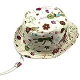 YueLian Girls Boys Flower Bunny Foldable Travel Summer Baby Bucket Fishing Hats (Hat Circumference:52cm)