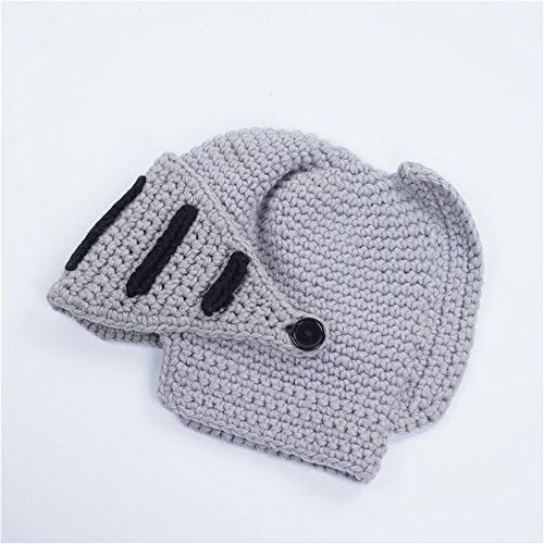 Rome Warrior General Helmet Costume Party Knit Hand Crochet Beanie Hat Headgear