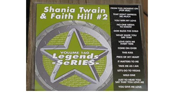 FAITH HILL SHANIA TWAIN - LEGENDS Karaoke CDG Vol 160 SHANIA