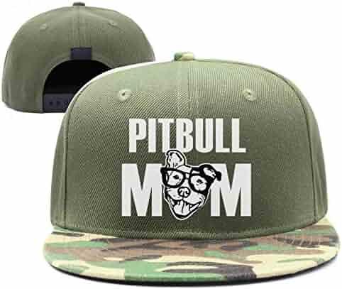 8f9e754bb80 Pitbull mom Pitbull dad Breathable Adult Womens Mens camo Trucker hat