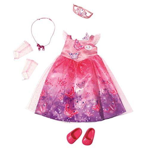 Baby Born – Robe de Princesse avec Papillons – Vêtement pour Poupon 43 cm