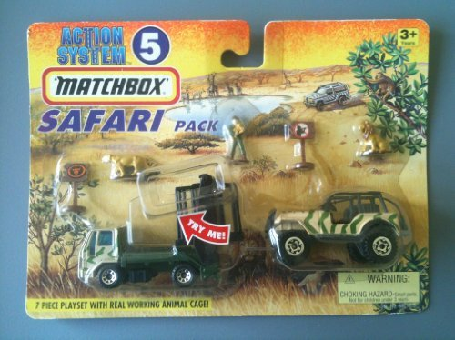 MATCHBOX 1996 Action System Playset  5  Safari Pack (7 piece playset) by Tyco Toys Inc