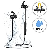 Bluetooth Headphones, Mpow S10 Bluetooth 5.0 Earbuds IPX7 Waterproof HiFi Stereo Sound 8-10Hrs Playtime Sports Headphones, Wireless Headphones in Ear Headphones W/CVC 6.0 Noise Cancelling Mic for Jogging, Running, Gym