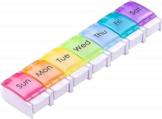 funihut - Caja Pastillero semanal con 7 Compartimentos, diseño ...