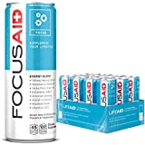 FOCUSAID Energy Blend   Contains Nootropics   Natural Caffeine   100% Clean   No Artificial Flavors, Sweeteners or Sodium   Alpha-GPC, GABA, B-Complex, Yerba Mate, Green Tea   12-oz. can (Pack of 12)