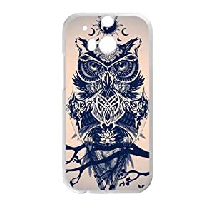 Canting_Good Cool Cute Owl Custom Case Cover Shell for HTC One M8 (Laser Technology)