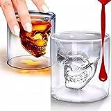 High-Season Magic Transparent Glass Skull Mugs Coffee Cups Bilayer Bar Wine Beer Drinkware Gift Tea Cup