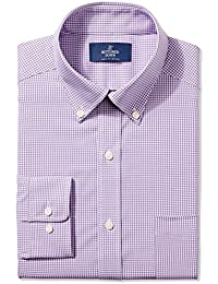 Men's Classic Fit Pattern Non-Iron Dress Shirt (3 Collars...