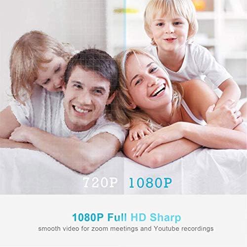 Camara web 1080P HD con micrófono, cámara web de computadora USB para computadora portátil, reducción de ruido, visión de ángulo amplio de 105 ° para streaming, confrencia de zoom, juegos, YouTube Skype FaceTime. (Negro) 51o8Grma 2BuL