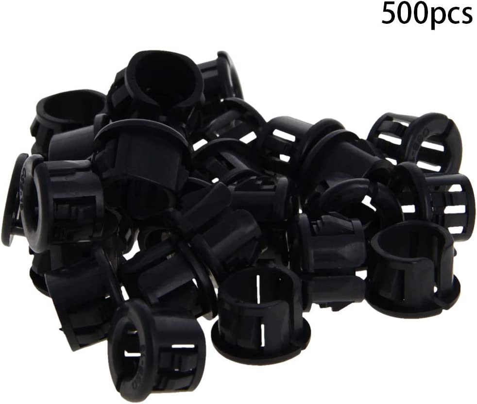 Fielect SK-10 Black Nylon Snap in Cable Hose Bushing Grommet Protector 20Pcs
