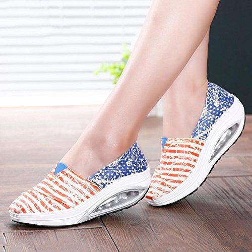 Primavera de y Zapatos mujer on slip Mocasines Zapatos Lona de conducci 7tdqwfq