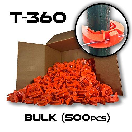T-360 Electric Fence T-Post Insulator - Orange (Bulk Qty: 500)