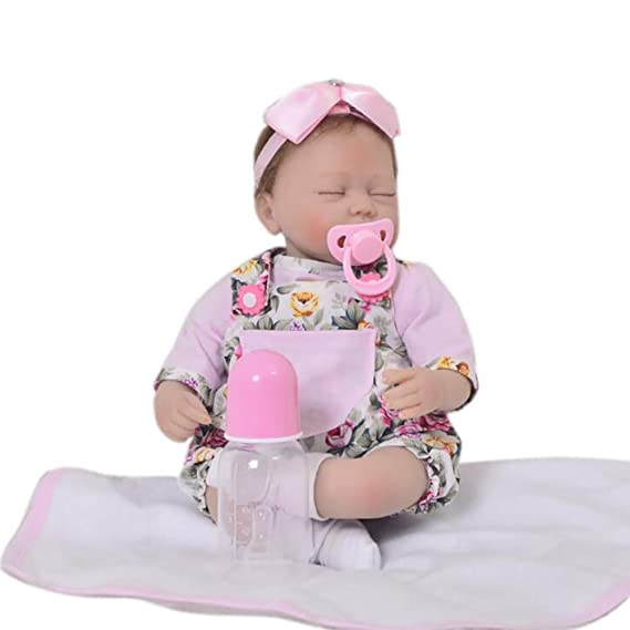 Amazon.com: XJJ Reborn Doll 16-inch 42CMthe Sleeping Dolls Reborn ...