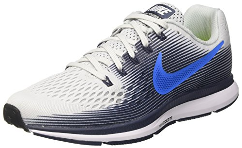 105bdcea1ca04 NIKE Men's Air Zoom Pegasus 34 Running Shoe Pure Platinum/Photo Blue Size 9  M US