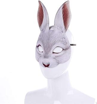Disfraz divertido Co Máscara Disfraz de conejito Disfraz de animal ...