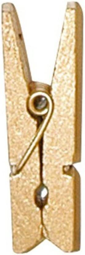 3,5 cm gold Holz Waescheklammern Miniklammern Holzklammern Klammern 12 Stk ca
