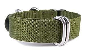 Minott Uhrenarmband Textil Nato Band 18mm Ersatzband Olivgrün 19916