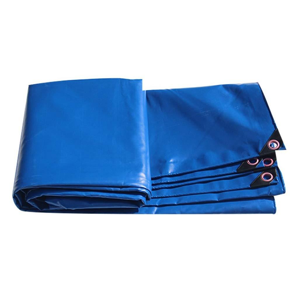 ターポリン アイレットが付いている頑丈なRainproof防水シートRainproof Tarpシートの日焼け止めの日除け小屋の布屋外庭 - 450g / mの²、青 (サイズ さいず : 4mx4m) B07S3YBH9X  4mx4m
