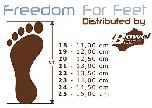 3f freedom for feet Jungen Babyschuhe Lauflernschuhe Kleinkind Neugeborene (Hausschuhe mit Leder Einlegesohlen) Größe 18 bis 25 Goal 1B8/11