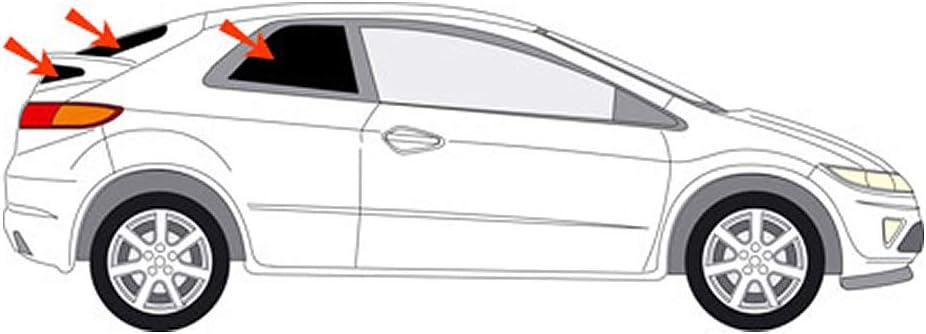 Solarplexius Sun Protection Car Sun Shade Window Tint Sun Protection Civic 3 Door 8 Gen Year Of Manufacture 06 12 Auto