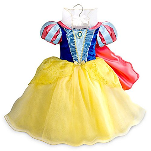 Authentic Snow White Costumes (Disney Store Little Girls Princess Snow White Costume Dress Multi 3T 4T (4T))