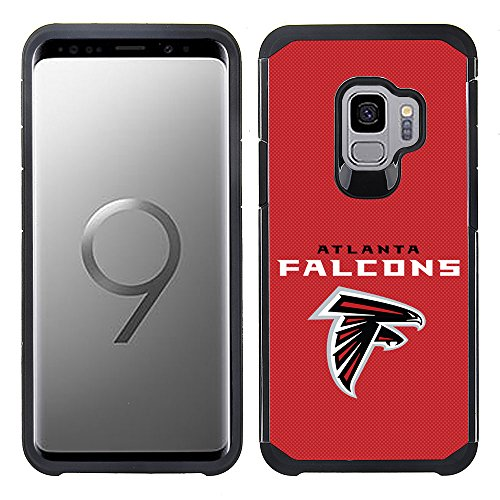 Prime Brands Group Textured Team Color Cell Phone Case for Samsung Galaxy S9 - NFL Licensed Atlanta Falcons ()