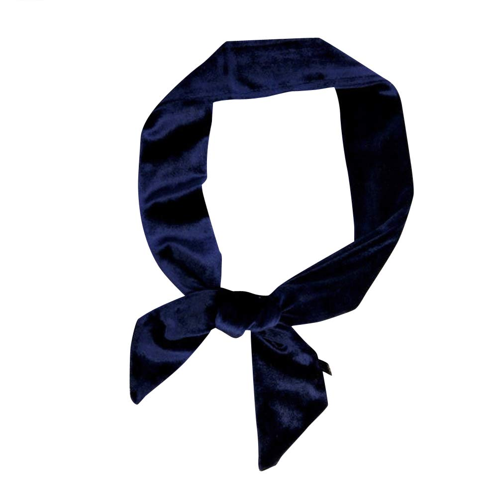 Donna Fazzoletti da collo Fascia Colore Solido Scarf Sciarpa Elegante Foulard