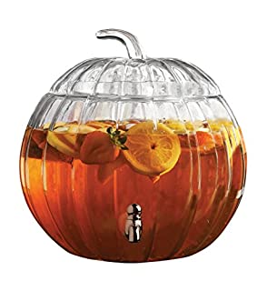 Circleware Pumpkin Clear Glass Beverage Dispenser (B01KWHP93I) | Amazon price tracker / tracking, Amazon price history charts, Amazon price watches, Amazon price drop alerts